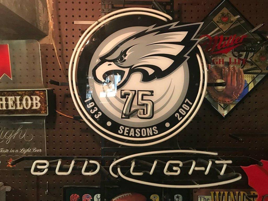 Bud Light Philadelphia Eagles NFL Sports Neon Sign Tube