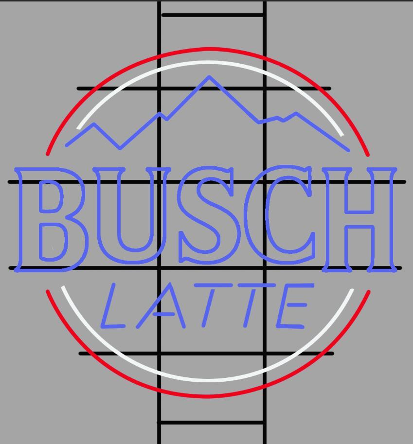 Busch Latte Neon Sign Rear Tube Neon Light – DIY Neon
