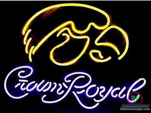 Crown Royal Iowa Hawkeyes Mascot Neon Sign NCAA Teams Neon