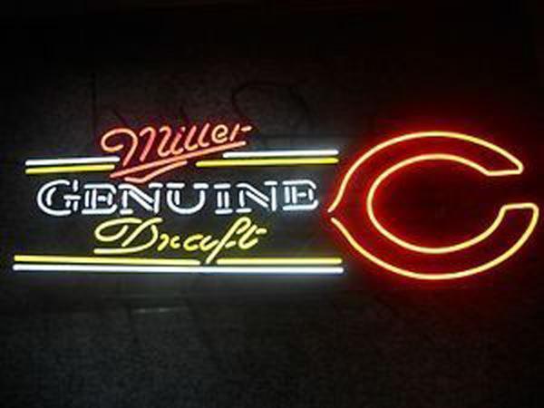 Miller Genuine Draft Chicago Bears Neon Sign Tube Neon