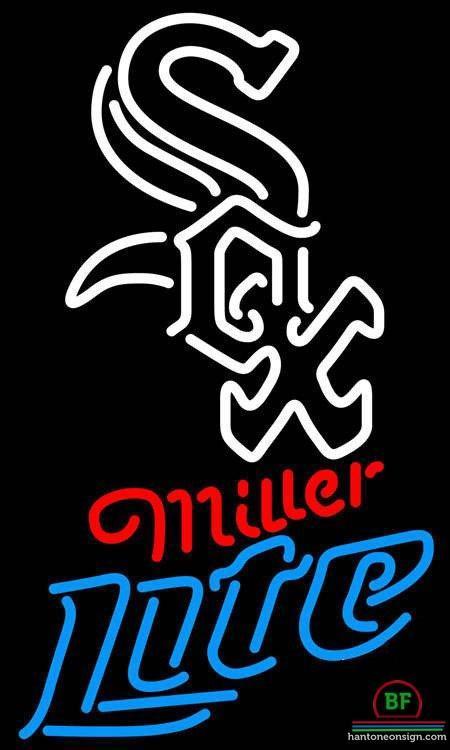 Miller Lite Chicago White Sox Neon Sign MLB Teams Neon