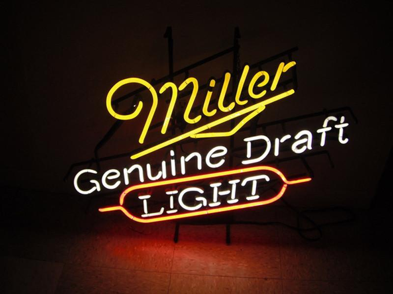 Miller Lite Genuine Draft Light Neon Sign – DIY Neon Signs