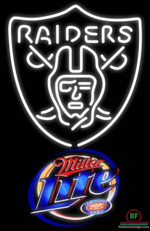 Miller Lite Oakland Raiders Neon Sign NFL Teams Neon Light