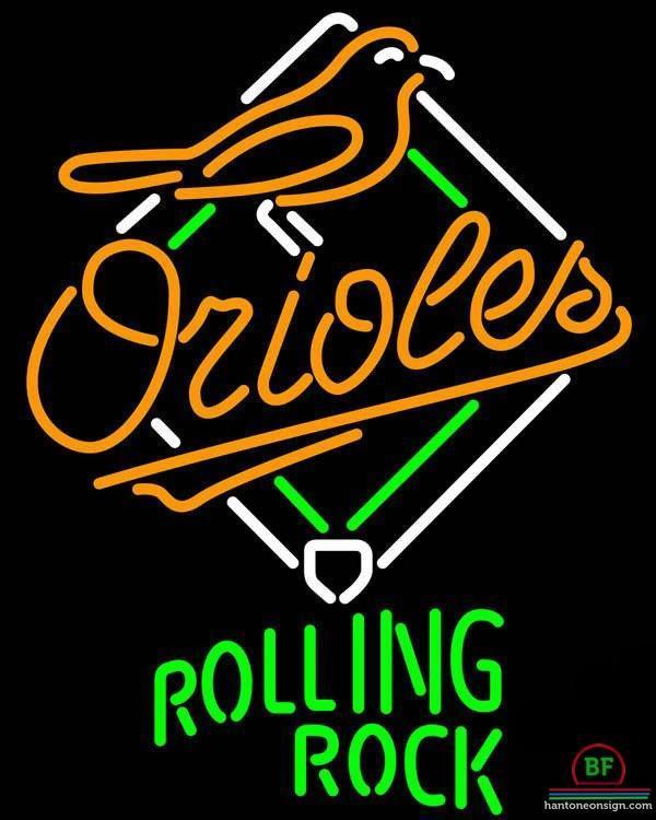 Rolling Rock Baltimore Orioles Neon Sign MLB Teams Neon