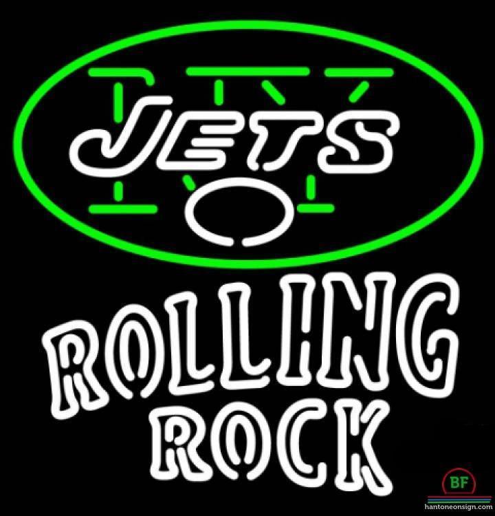 Rolling Rock New York Jets Neon Sign NFL Teams Neon Light