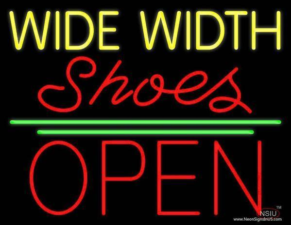 Wide Width Shoes Neon Sign Tube Neon