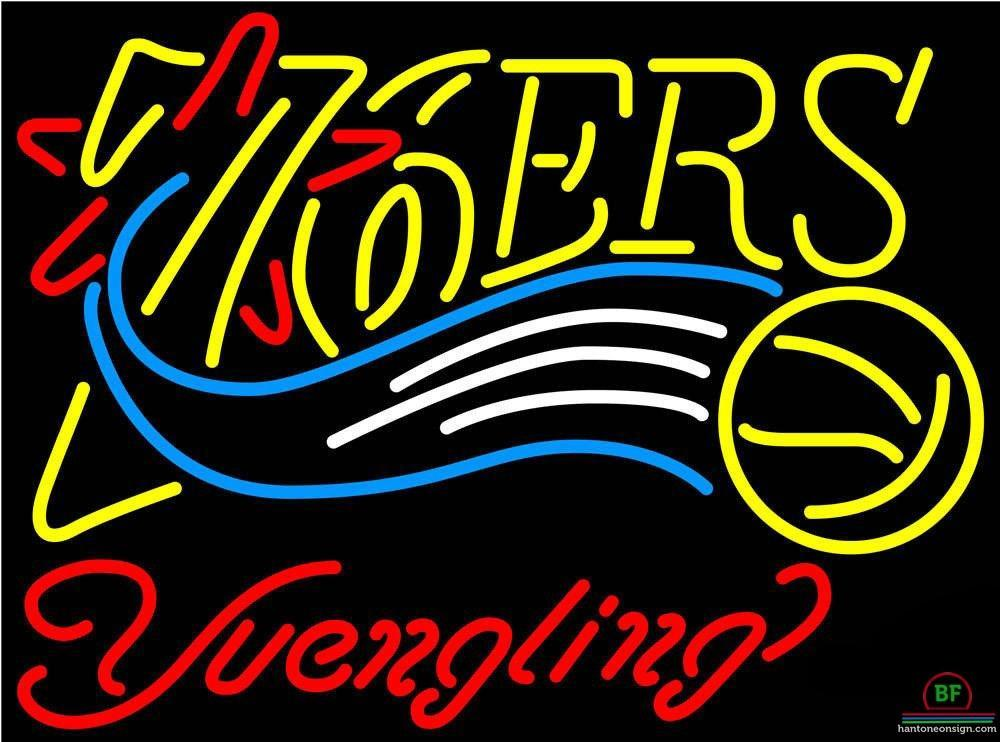 Yuengling Philadelphia 76ers Neon Sign NBA Teams Neon