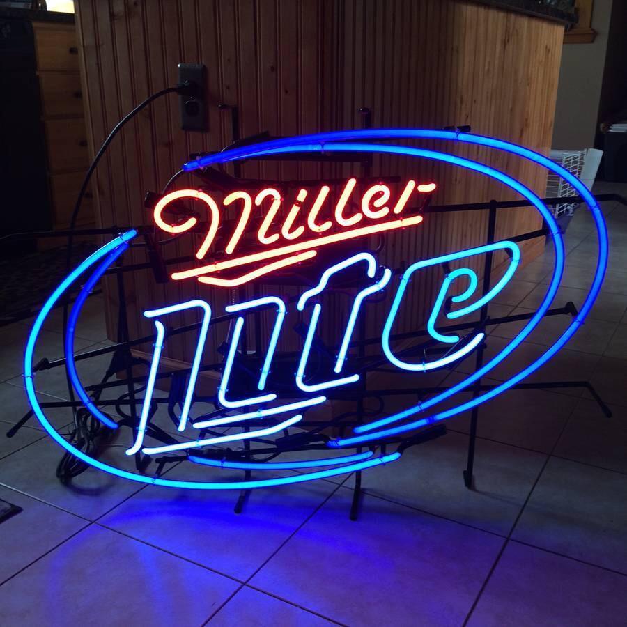 Miller Lite Neon Sign Tube Neon Light – DIY Neon Signs